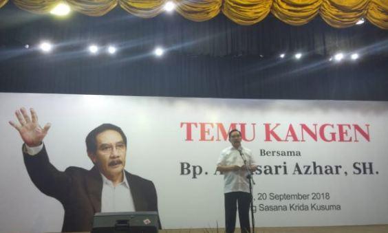 Acara Temu Kangen Antasari Azhar di Gedung Wanita, Solo Kamis (20/9/2018).