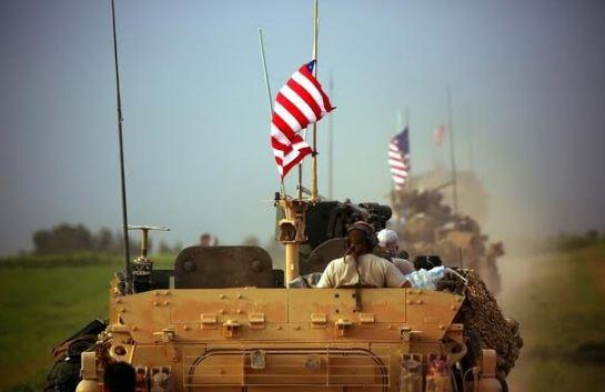 Mobil militer Amerika Serikat di Suriah.
