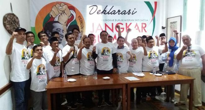 Jangkar Bumi deklarasi dukungan ke Jokowi-Ma'ruf.