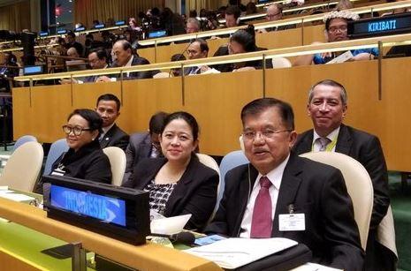 Jusuf Kalla saat hadiri  general debate sidang majelis umum PBB ke-73.