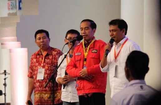 Presiden Joko Widodo saat menghadiri reuni KAGAMA.
