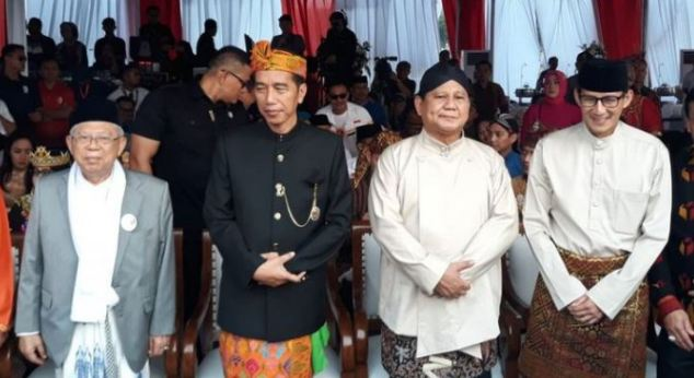 Jokow-Ma'ruf dan Prabowo-Sandi.