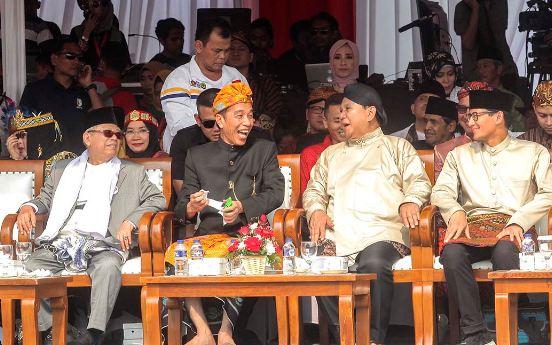Suasana Deklarasi Kampanye Damai dan Berintegritas di kawasan Monas, Jakarta.