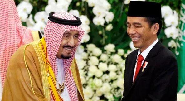 Presiden Jokowi dan Raja Salman.
