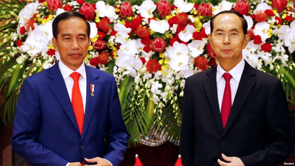 Presiden Jokowi dan  Presiden Vietnam Tran Dai Quang.