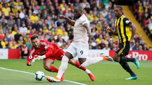 Romelu Lukaku mencetak satu gol ke gawang Watford.