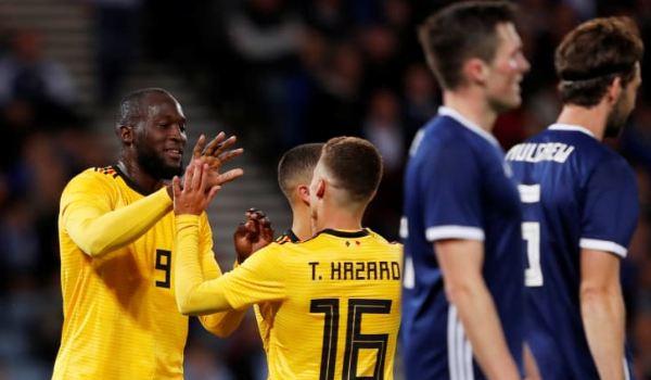 Lukaku cetak dua gol untuk menangkan Belgia.