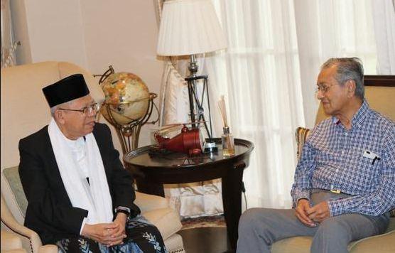 Ma'ruf Amin dan Mahathir Mohamad.