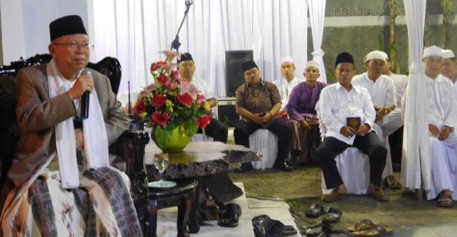 Ma'ruf Amin saat bersilaturahmi dengan PWNU Jambi.