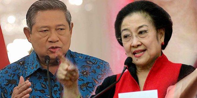 Megawati dan SBY.