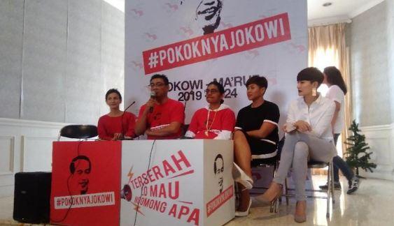 Wanda Hamidah hingga Dira Sugandi deklarasi dukung Jokowi-Ma'ruf Amin.