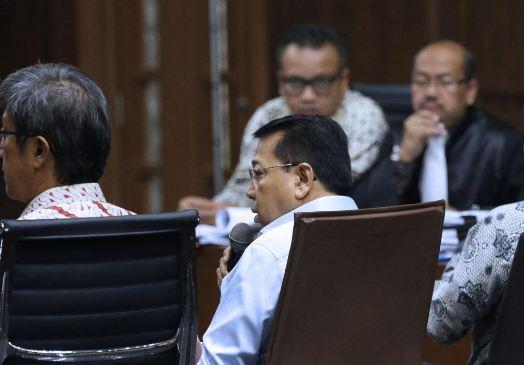Novanto ketika bersaksi untuk Irvanto dalam sidang di Pengadilan Tipikor Jakarta, Jalan Bungur Besar Raya, Jakarta Pusat, Selasa (18/9/2018).