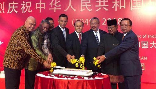 Prabowo saat hadiri perayaan hari nasional China.