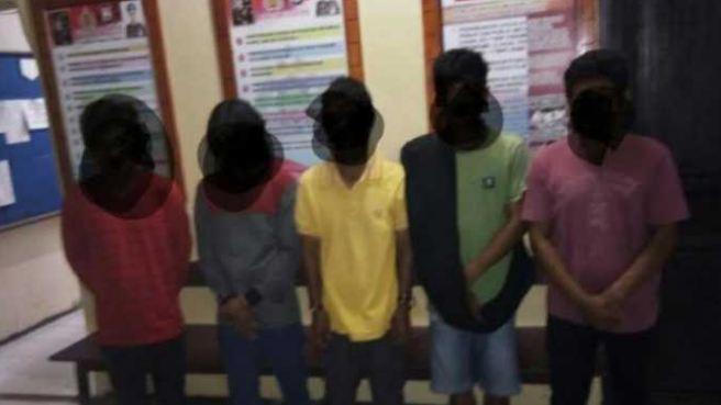 Para pelaku pemerkosaan yang berhasil di tangkap Polisi.