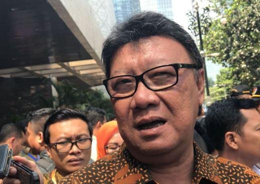 Menteri Dalam Negeri ( Mendagri) Tjahjo Kumolo.