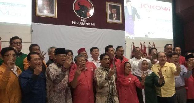 Tim Kampanye Daerah jokowi-Ma'ruf Surabaya.