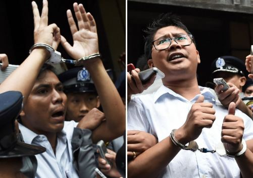 Wartawan yang di hukum penjara oleh Myanmar.