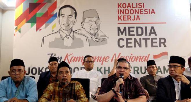 Eks 212 saat Deklarasi Dukung Jokowi - Maruf Amin di Pilpres 2019.