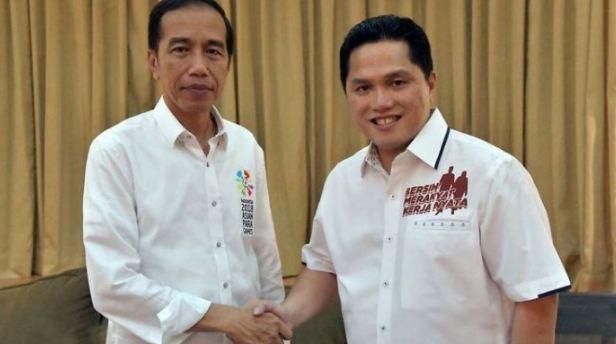Jokowi dan Erick Thohir.