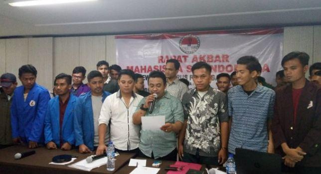 Garda NKRI saat Deklarasi Dukung Jokowi-Ma'ruf Amin di Pilpres 2019.