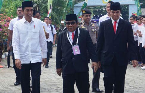Presiden Jokowi saat menghadiri acara Rakernas LDII di Pondok Gede.