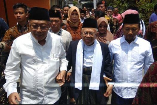 Maruf Amin kunjungi Pondok Pesantren Krapyak.