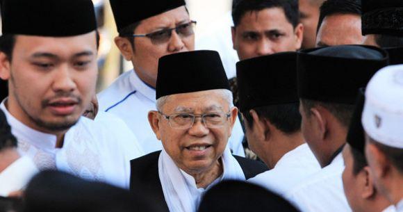 KH Ma'ruf Amin Cawapres nomor urut 1 mengunjungi Kabupaten Bangkalan, Jum'at (19/10).