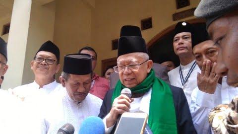 Ma'ruf Amin berkunjung ke Pondok Pesantren Al Munawwir Krapyak,
