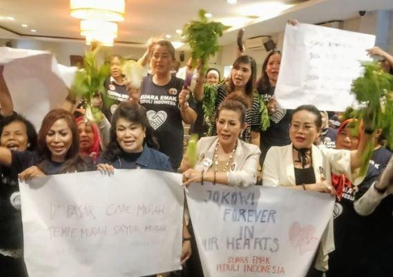 Suara emak peduli indonesia dukung Jokowi-Ma'ruf Amin.