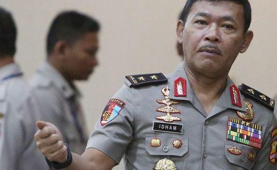 Kapolda Metro Jaya Inspektur Jenderal Polisi Idham Azis.