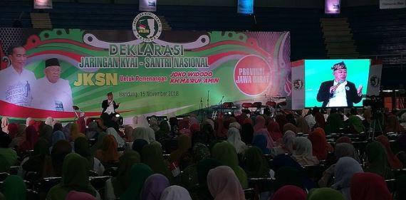Deklarasi JKSN Jabar dukung Jokowi-Ma'ruf.