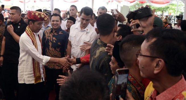 Presiden Jokowi saat di Lampung.