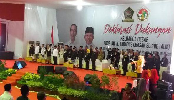 Deklarasi dukungan keluarga besar Tubagus Chasan Sochib (Alm) kepada pasangan calon presiden dan calon wakil presiden Jokowi-Maruf Amin.