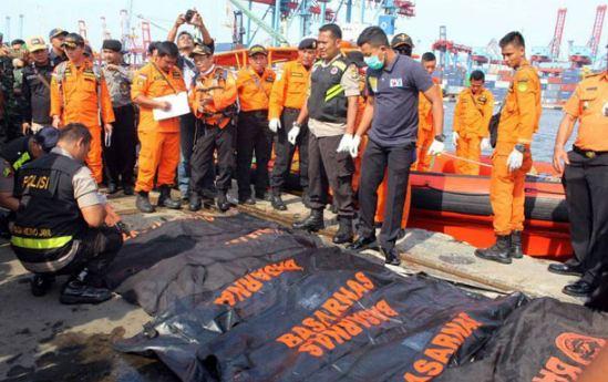 Jenazah korban Lion Air yang berhasil di evakuasi.