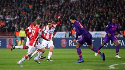 Milan Pavkov mencetak gol kedua ke gawang Liverpool.