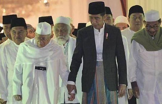 Jokowi dan KH Ma'ruf Amin.