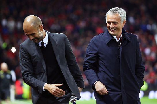Pep Guardiola dan Jose Mourinho.