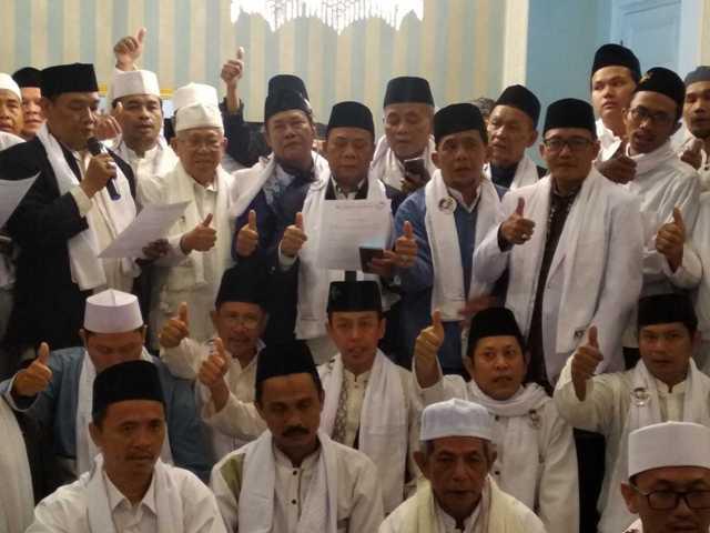 Ulama NU se-Jakarta Pusat dukung Jokowi-Ma'ruf.