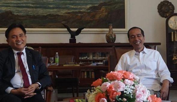 Presiden Jokowi dan Yusril di Istana Bogor, Jumat (30/11/2018).