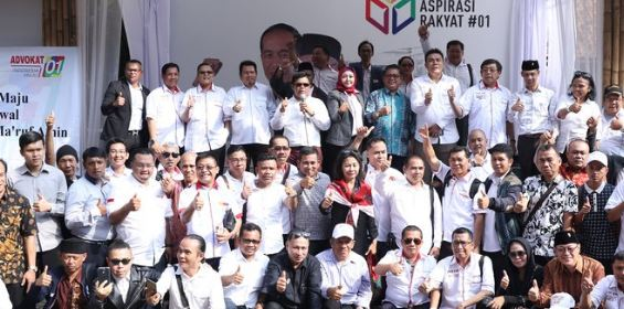 Advokat Indonesia Maju dukung Jokowi-Ma'ruf Amin.