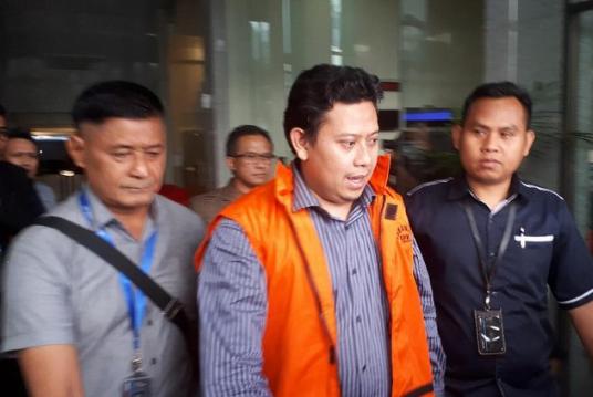 Bupati Cianjur Irvan Rivano Muchtar resmi di tahan KPK.
