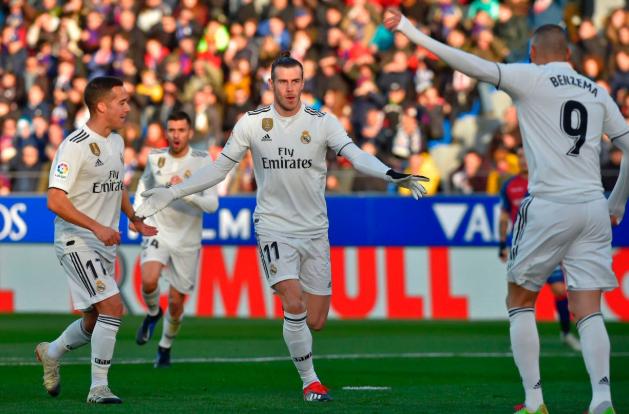 Gareth Bale cetak satu-satunya gol untuk kemenangan Madrid.