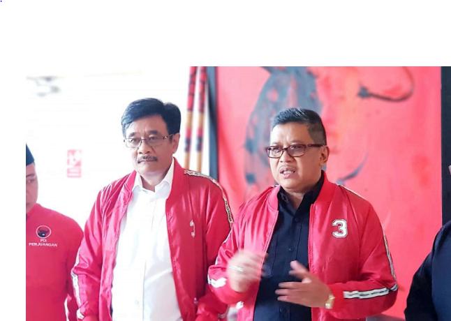 Djarot Saiful Hidayat dan Hasto Kristiyanto.