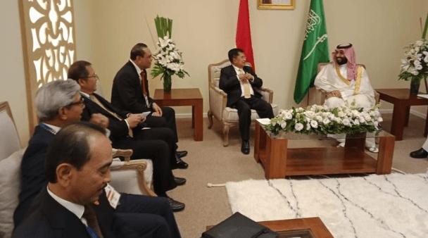 Wapres JK bersama Pangeran Muhammad bin Salman. (Dok. Istimewa)