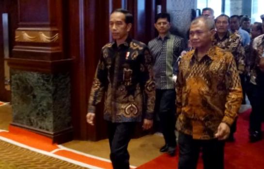 Presiden Jokowi dan Ketua KPK Agus Rahardjo.