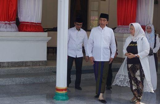 Jokowi saat di Gedung Rato Ebu, Kabupaten Bangkalan, Jawa Timur, Rabu (19/12/2018).