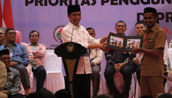 Presiden Jokowi saa bagikan foto.