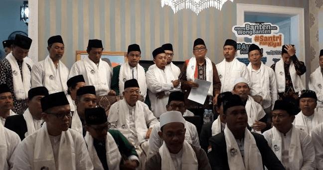 Para ulama dan Pimpinan Cabang Nahdlatul Ulama se-Tangerang Selatan menyatakan dukungan kepada pasangan calon presiden Joko Widodo dan calon wakil presiden Ma'ruf Amin.