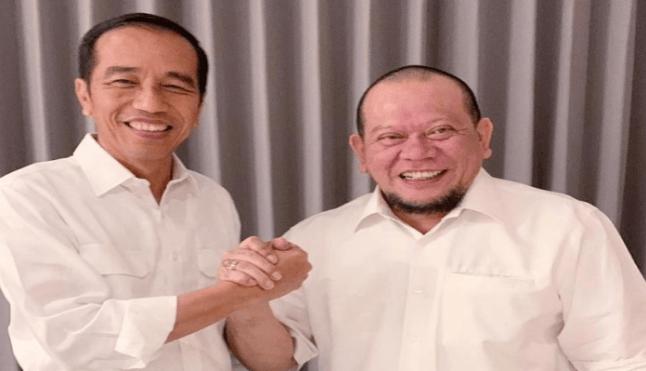 Presiden Jokowi dan La Nyalla Mattalitti.