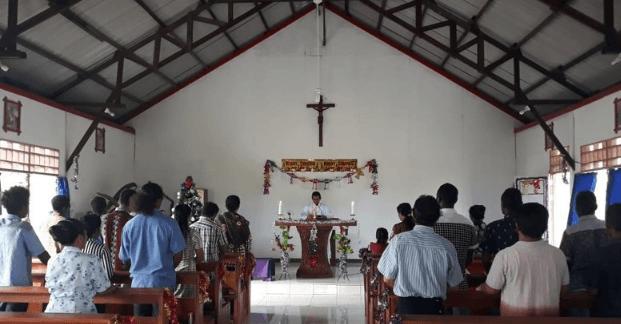 Perayaan Natal di salah satu gereja di Kabupaten Nduga.